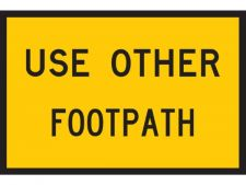 Sign Use Other Footpath